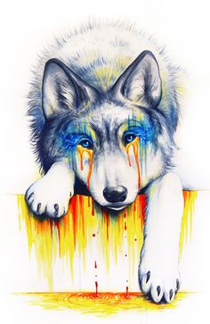 Drowning in Tears - Signed Art Print - Watercolor Painting by Jonas Jödicke