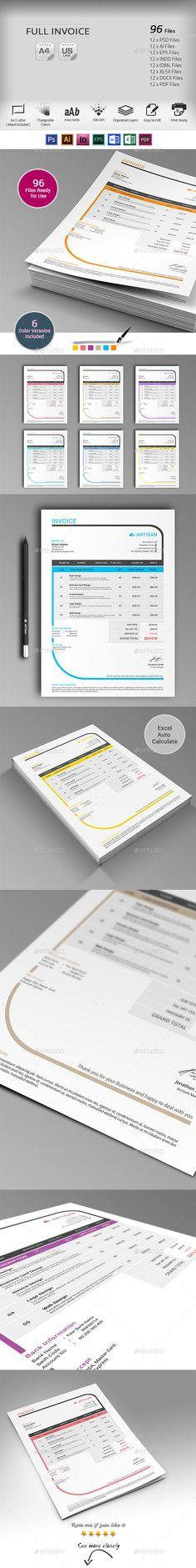 Invoice Template | #invoice #invoicetemplate | Download: http://graphicriver.net/item/invoice/10091006?ref=ksioks