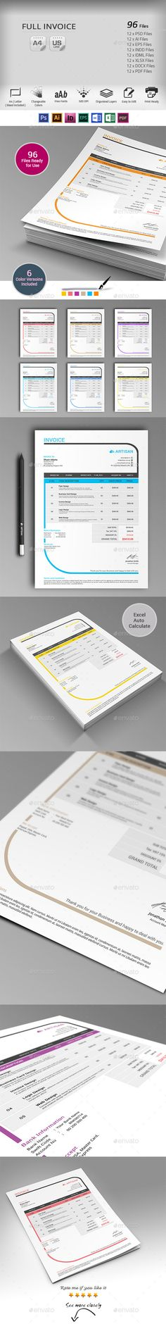 Invoice Template   #invoice #invoicetemplate   Download: http://graphicriver.net/item/invoice/10091006?ref=ksioks