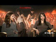 Jessica Alba and Michelle Rodriguez from MACHETE with Edgardo Ochoa ..