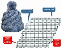 Tina& handicraft : 7 designs knitting tips Crochet Beanie, Crochet Baby, Knit Crochet, Baby Hats Knitting, Knitting Stitches, Baby Hut, How To Make A Pom Pom, Knitted Gloves, Kids Hats