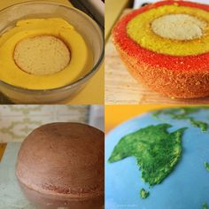 earth planet cake by cakecrumbs 2 Spherical Layer Cake Planets by Cakecrumbs Earth Cake, Planet Cake, Earth Layers, Science Party, Science Cake, Fondant, Crazy Cakes, Just Cakes, Edible Cake
