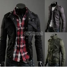 $19.75 Casual Stylish Slim Fit Zip Jacket