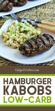 Hamburger Kabobs are a delicious alternative to burgers for ground beef on the grill and this recipe has some surprising ingredients to add flavor! Kabob Recipes, Lunch Recipes, Diet Recipes, Cooking Recipes, Healthy Recipes, Beef Kabob Marinade, Beef Kabobs, Kebabs, Skewers