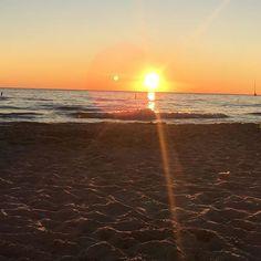Sun setting on the #beach in St Joseph Michigan! #sunset #showlife #naturalbeauty #goodnightsun Natural Beauty from BEAUT.E