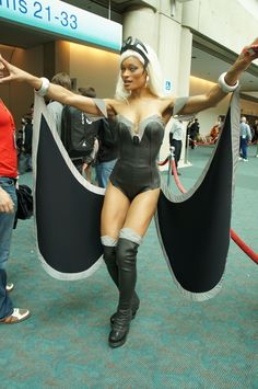 Storm cosplay, SDCC 2012.