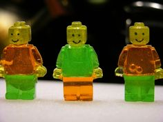 How to make gummy LEGO minifigures.