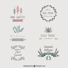 Floral vector logos download gratuito Vetor grátis