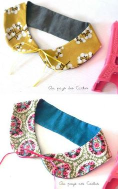 *Wanna dress like*: peter pan collar tutorial .Perhaps in solids? Or dark paisley! Something with BLACK! Sewing Hacks, Sewing Tutorials, Sewing Crafts, Sewing Projects, Tutorial Sewing, Diy Crafts, Diy Couture, Couture Sewing, Diy Clothing