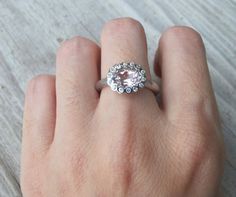 Pink Tourmaline Engagement Ring Tourmaline Promise Ring by Belesas, $249.00