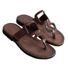 Sandalo egizio marrone da donna
