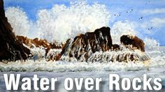 Online Art Class - Water over Rocks - Paint Basket TV Watercolor Video, Beach Watercolor, Watercolor Techniques, Watercolor Paintings, Art Lessons Online, Online Art Classes, Basket Tv, Gouache Tutorial, Painted Baskets