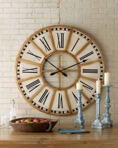Train Station Clock - Horchow