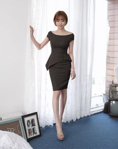 2015 summer new Korean Slim flounced skirt was thin package hip pencil skirt false two OL dress summer - Taobao global Station