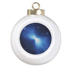 Boomerang Nebula Ceramic Ball Christmas Ornament