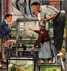 Bob byerley children 39 s print about vintage indian for Fish and more pet store