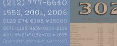 Numbers font, 16 fonts, by Hoefler Frere-Jones $129