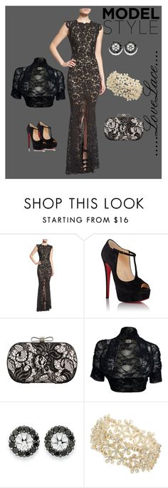"""""""Lace to Love"""" by latinavixn ❤ liked on Polyvore featuring Rachel Zoe, Christian Louboutin, Chicnova Fashion, Kevin Jewelers, Miss Selfridge, lace, bolero and partystyle"""