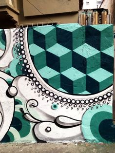 5 Awesome Obey Street Art Works - StreetArt101 - Geometric patterns contrasted with lacy crisp black and white details