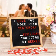 Black Letterboard with Red & White Letters White Letters, Black Letter, Wooden Letters, Rainbow River, Message Board, Black Felt, Love You More Than, Source Of Inspiration, Wood Colors