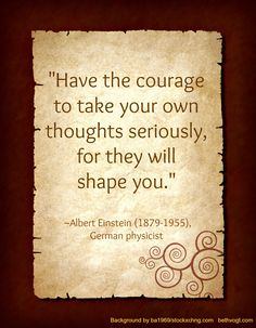 Courage ...