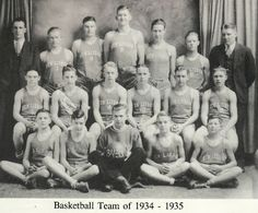 New Lisbon basketball team that went to Wisconsin State Basketball Tournament, 1934