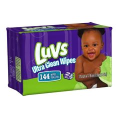 Luvs Ultra Clean Wipes 2x Refills 144 Count (Pack of 8) for sale