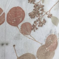 Close up detail of the print on raw silk. The silk remains strong and soft.