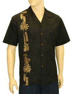 Men's Totem Surfer South Pacific Hawaii Shirt #444-3757