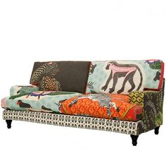 Qalakabusha sofa. A collaboration between Ardmore Ceramics and Marguerite MacDonald of Mavromac fabrics, South Africa.