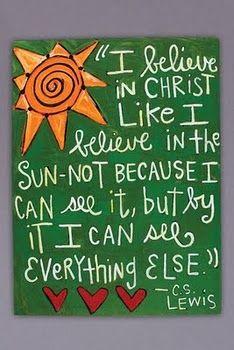 C S Lewis quote--true!