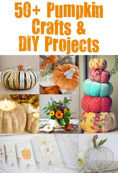 The Ultimate Round Up of 50+ Fabulous Pumpkin Crafts. It's not too early to be thinking about fall I'm definitely trying a bunch of these!