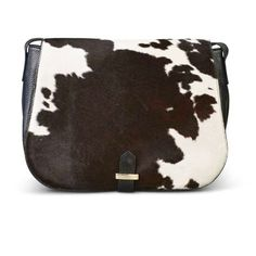 791de3fda375 In stores Now 🖤 Soft Calfhair Saddle Bag in Natural Brown or Black Cow-