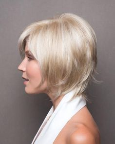 One of Noriko's best sellers now available in a partial monofilament cap. This sassy bob has tousled layers and an edgy fringe. Try it for yourself.