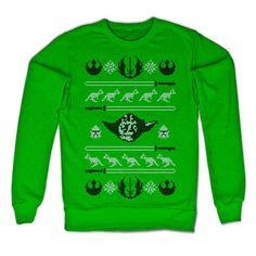 Hybris Star Wars - Yodas X-Mas unisex sweatshirt groen - Film merchandise Hoodies, Sweatshirts, Everyday Outfits, Christmas Sweaters, Attitude, Graphic Sweatshirt, Unisex, Stars, Jumpers
