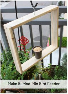 Modern DIY Bird Feeder