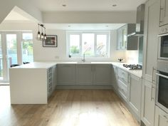 Howdens fairford kitchen, Apollo Slab Tech worktops. #Howdens #SlabTech #Kitchen...