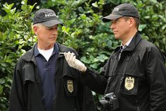 Mark Harmon and Michael Weatherly in NCIS: Naval Criminal Investigative Service (2003)