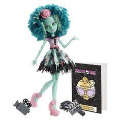 Monster High Frights Camera Action New Stars Honey Swamp Doll