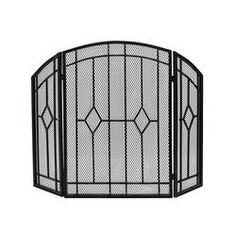 Plow & Hearth Single Panel Steel Fireplace Screen & Reviews | Wayfair Fireplace Screens, Mesh Screen, Beveled Glass, Tubular Steel, Iron, Screen Block, Wayfair, Fireplace, Paneling