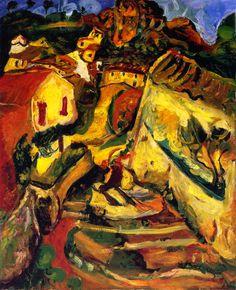 Landscape at Cagnes, 1924 / Chaim Soutine