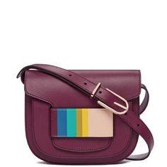 c68ea9e5ccc4 Tory Burch Crescent Multicolor Shiraz Leather Cross Body Bag 45% off retail