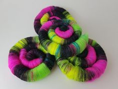 Neon Dreamweaver Rolags Fiber content: Merino and Bamboo Fiber We do try to accurately reflect the true colours in our photos however these can vary between monitors. Rolags were made in a cat friendly studio. True Colors, Colours, Spinning, Bamboo, Fiber, Neon, Content, Cat, Studio