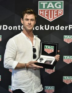 Brand Ambassador, Chris Hemsworth attends the TAG Heuer Celebration of The Running Of The Indianapolis 500 Race As The Official Timepiece at Indianapolis Motor Speedway. Snowwhite And The Huntsman, Hemsworth Brothers, Chris Hemsworth Thor, Z Cam, Australian Actors, Celebrity Dads, Celebrity Style, Mark Wahlberg, Celebration Quotes