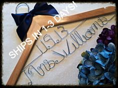 SALE Double Row/ Personalized Wedding Hanger/ Brides Hanger/ Bride/ Name Hanger/ Wedding Hanger/32 Ribbon Colors on Etsy, $24.99