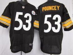 Nike Pittsburgh Steelers #53 Maurkice Pouncey Black Elite Jersey