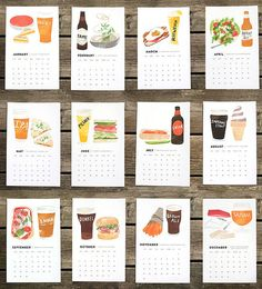 Hey, I found this really awesome Etsy listing at https://www.etsy.com/listing/164803404/2014-beerfood-calendar