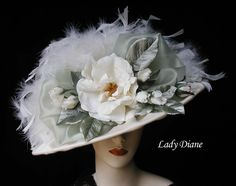 Victorian Hats, Victorian Tea Hats - Lady Diane Hats (front of hat)