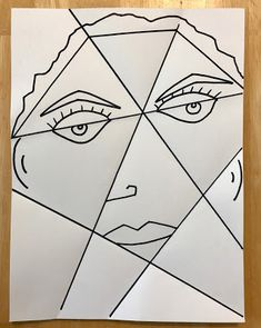 Kathy's AngelNik Designs & Art Project Ideas: Picasso Portrait Inspired Art Lesson Using Folded Paper and Watercolor