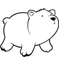 Colorear dibujo Oso polar